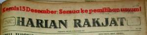 Harian Rakjat 13 Desember 1955