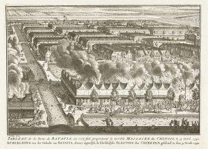 Rumah orang Tionghoa dibakar dalam Geger Pecinan 1740
